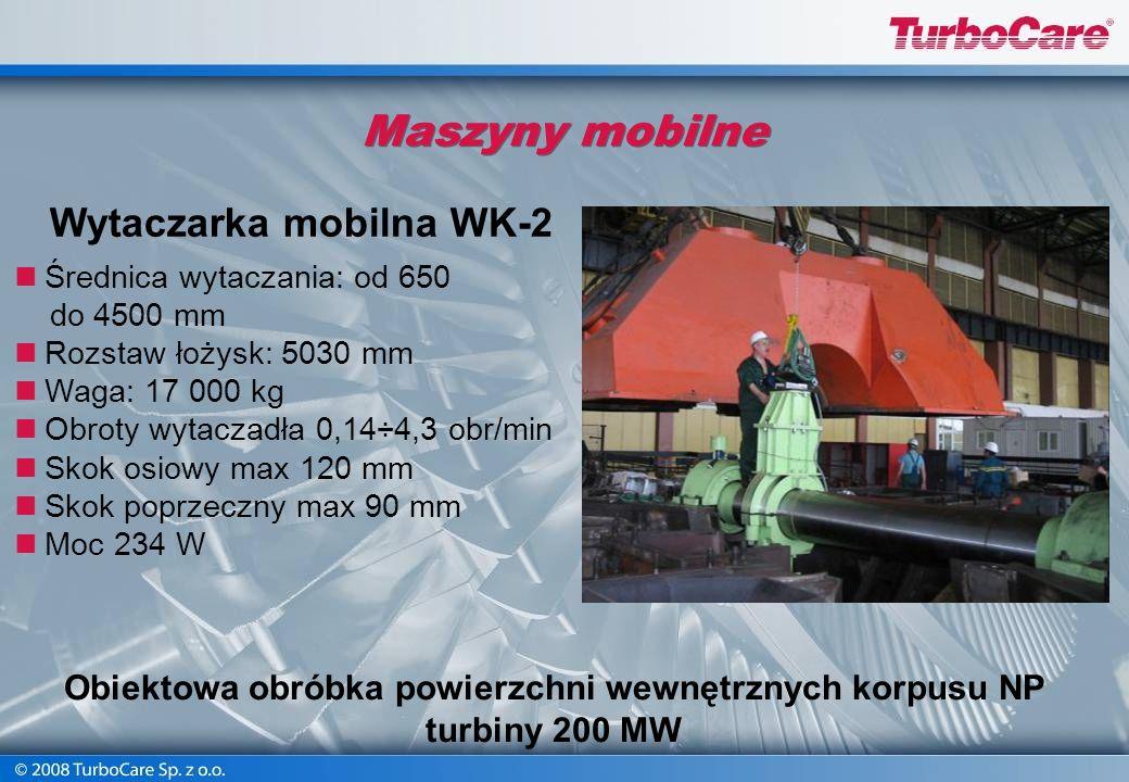 Maszyny mobilne Wytaczarka mobilna WK-2
