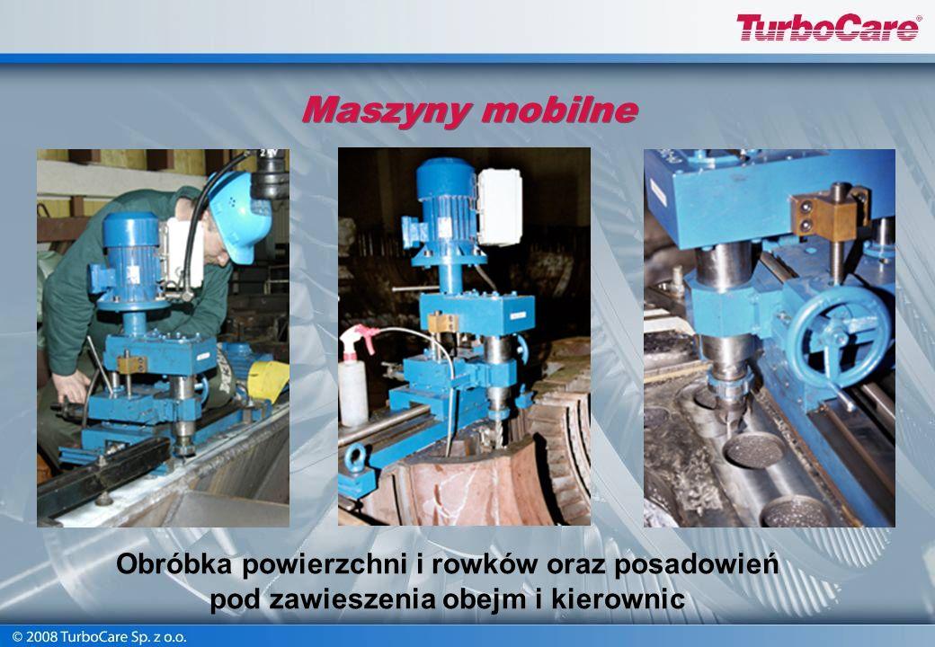 Maszyny mobilne Obróbka powierzchni i rowków oraz posadowień