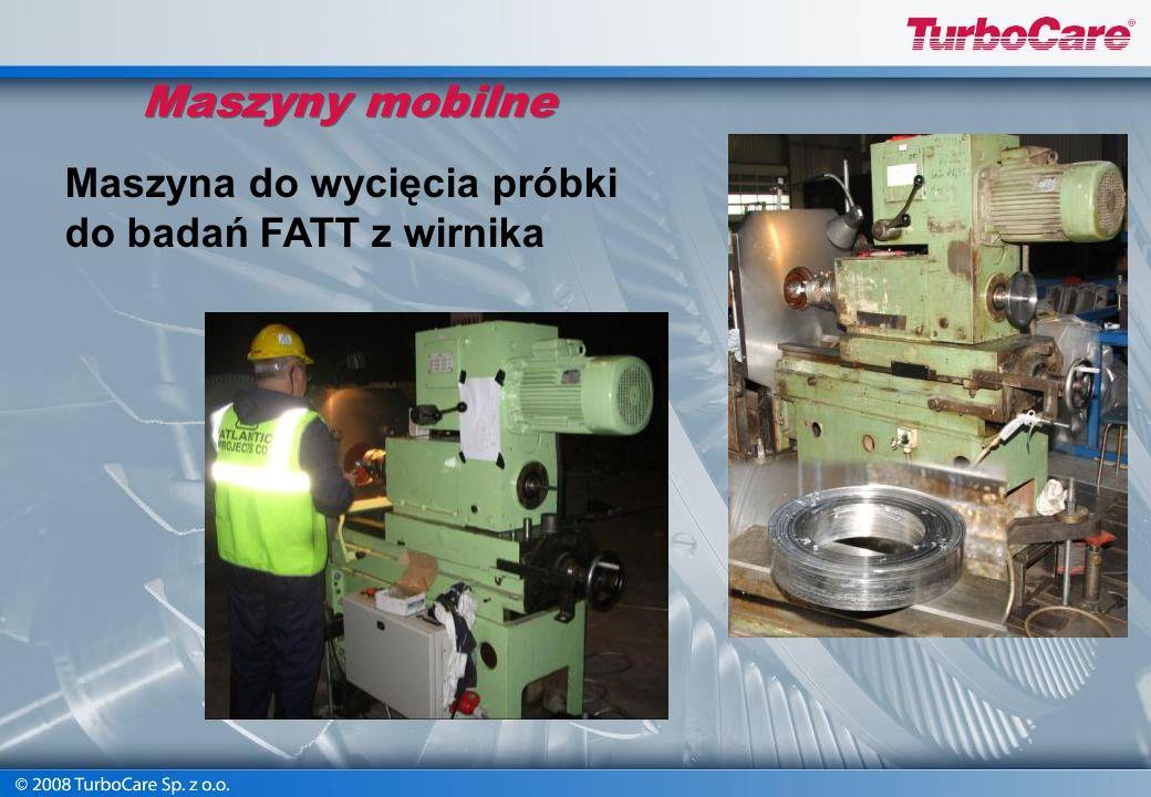 Maszyny mobilne Maszyna do wycięcia próbki do badań FATT z wirnika