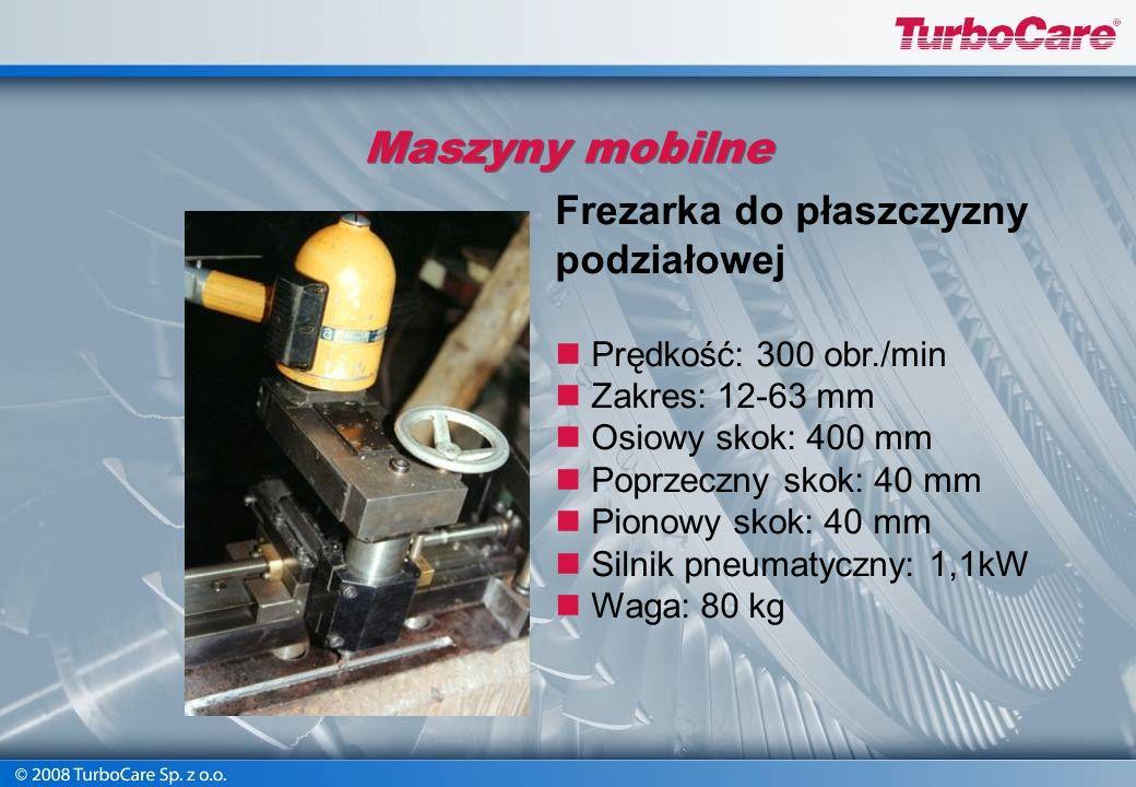 Maszyny mobilne Frezarka do płaszczyzny podziałowej