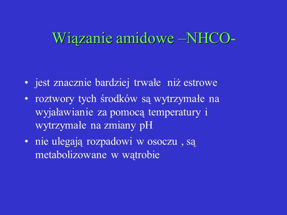 Wiązanie amidowe –NHCO-