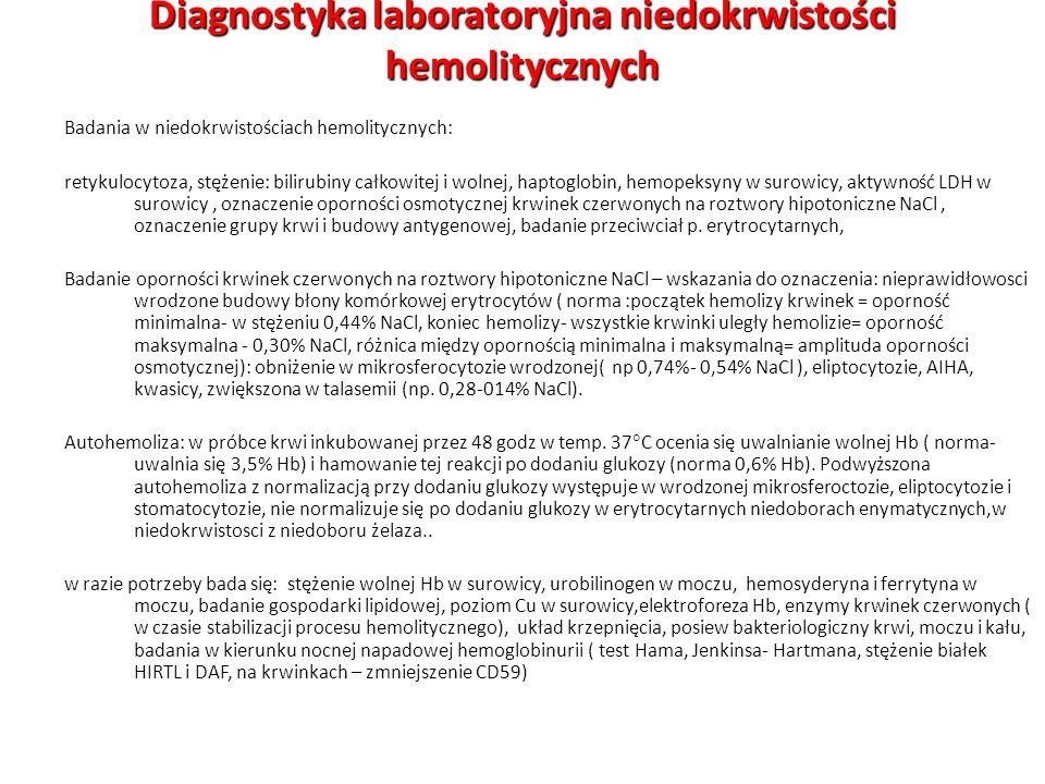 Diagnostyka laboratoryjna niedokrwistości hemolitycznych
