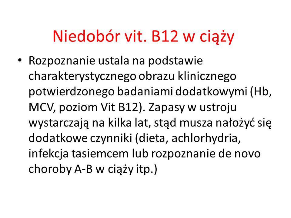 Niedobór vit. B12 w ciąży