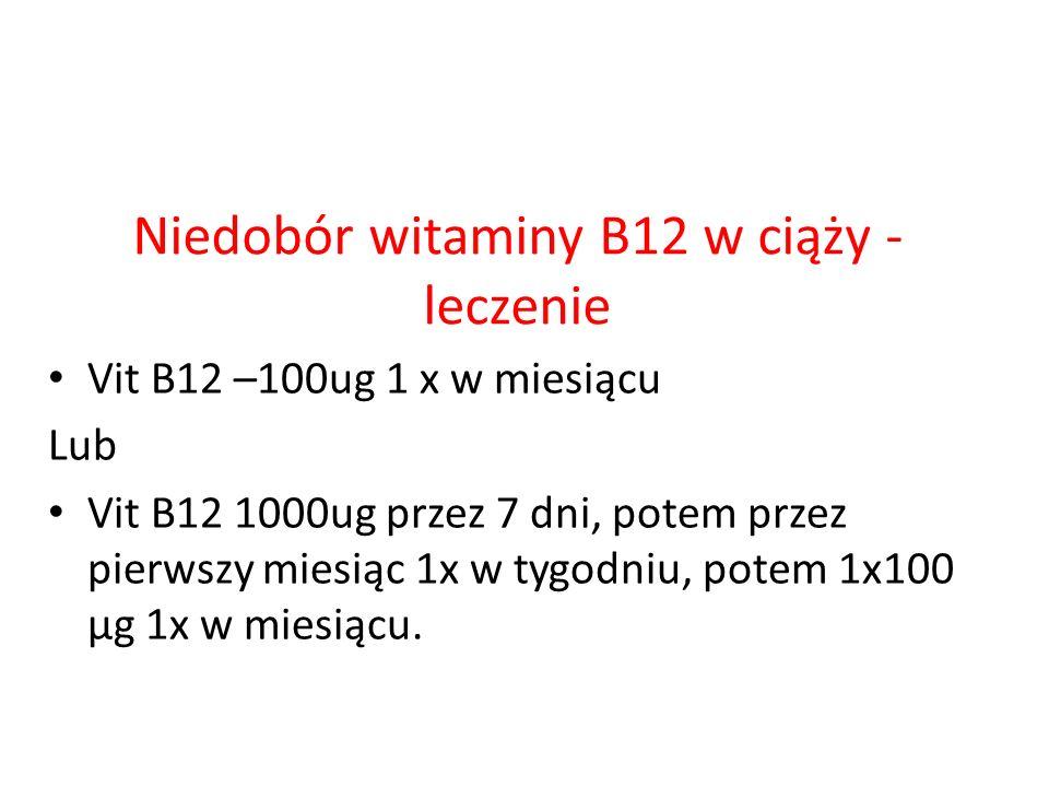 Niedobór witaminy B12 w ciąży - leczenie