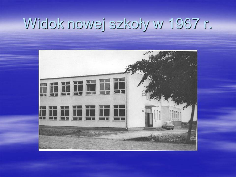 Widok nowej szkoły w 1967 r.