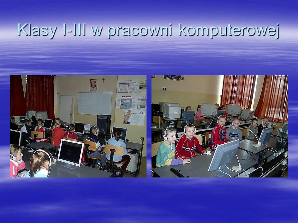 Klasy I-III w pracowni komputerowej