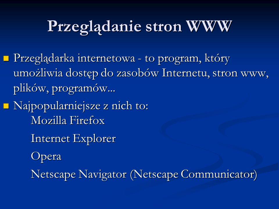 Przeglądanie stron WWW