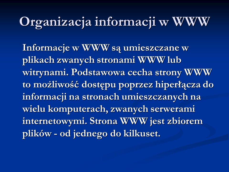 Organizacja informacji w WWW