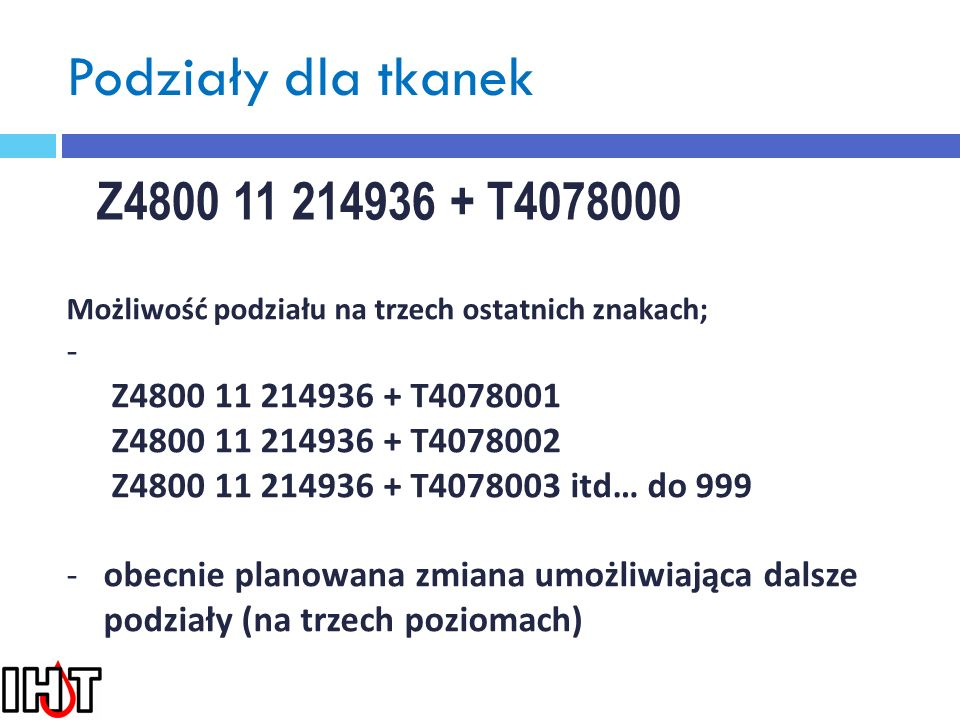 Podziały dla tkanek Z4800 11 214936 + T4078000