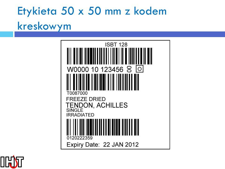 Etykieta 50 x 50 mm z kodem kreskowym