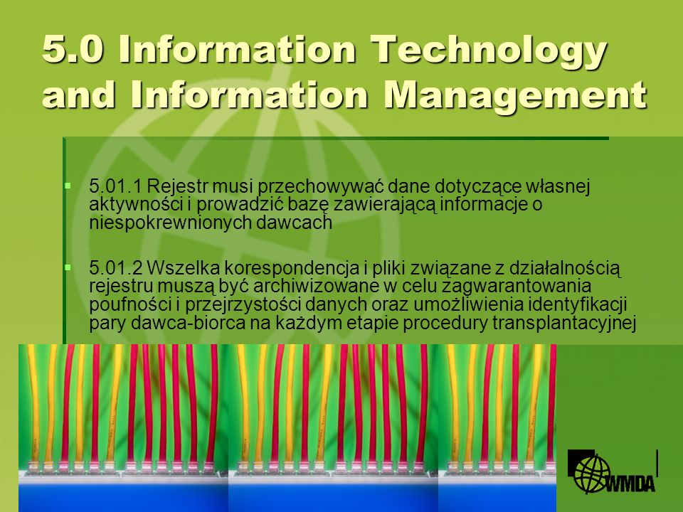 5.0 Information Technology and Information Management