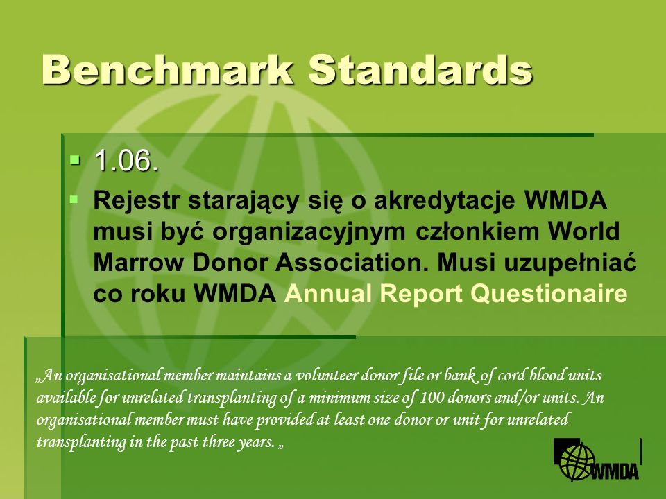 Benchmark Standards 1.06.