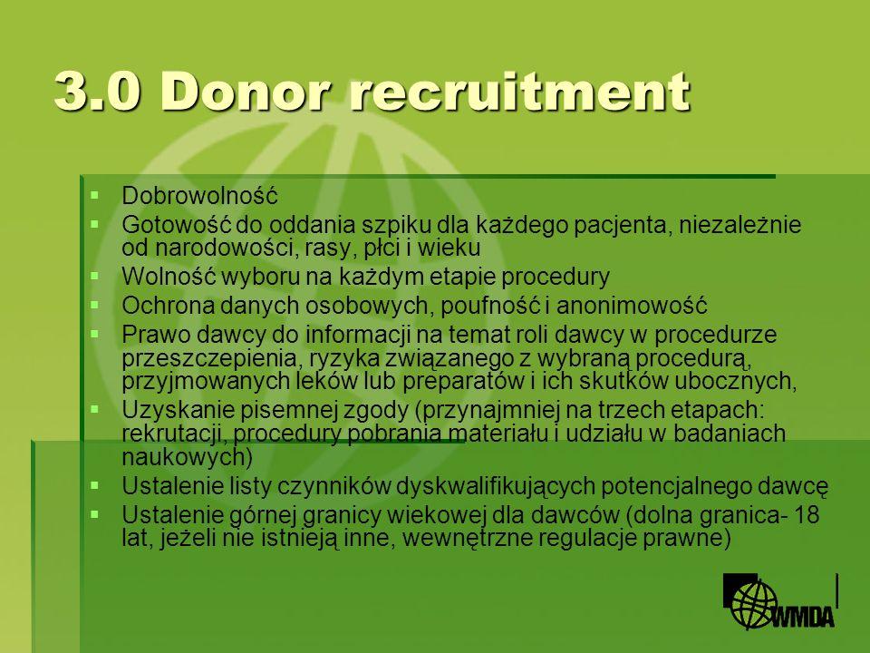 3.0 Donor recruitment Dobrowolność