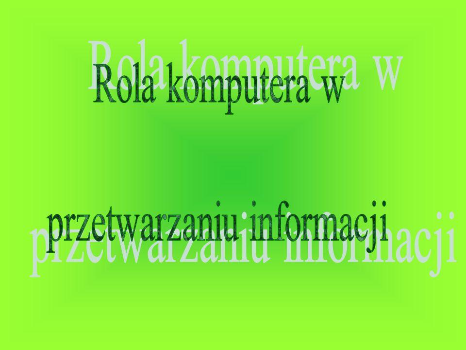 przetwarzaniu informacji