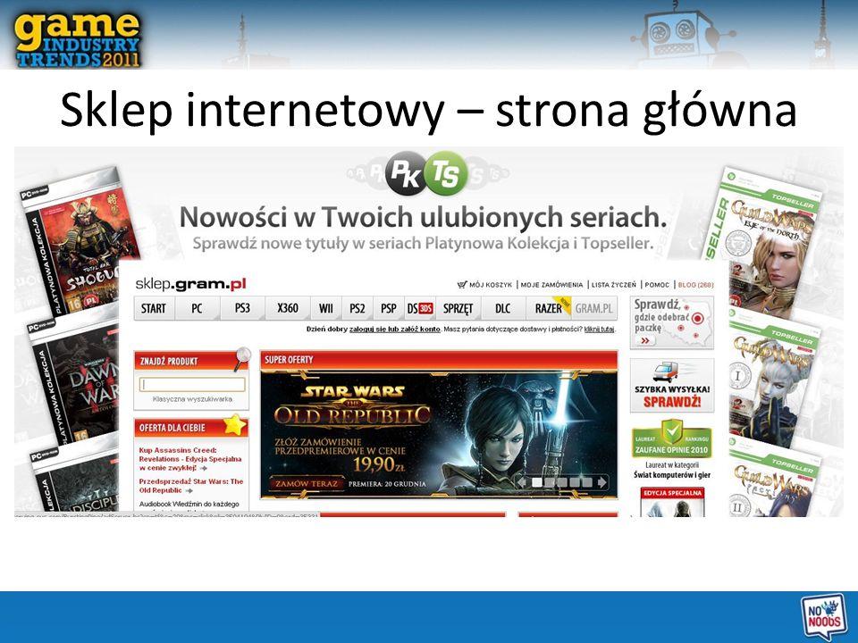 Sklep internetowy – strona główna