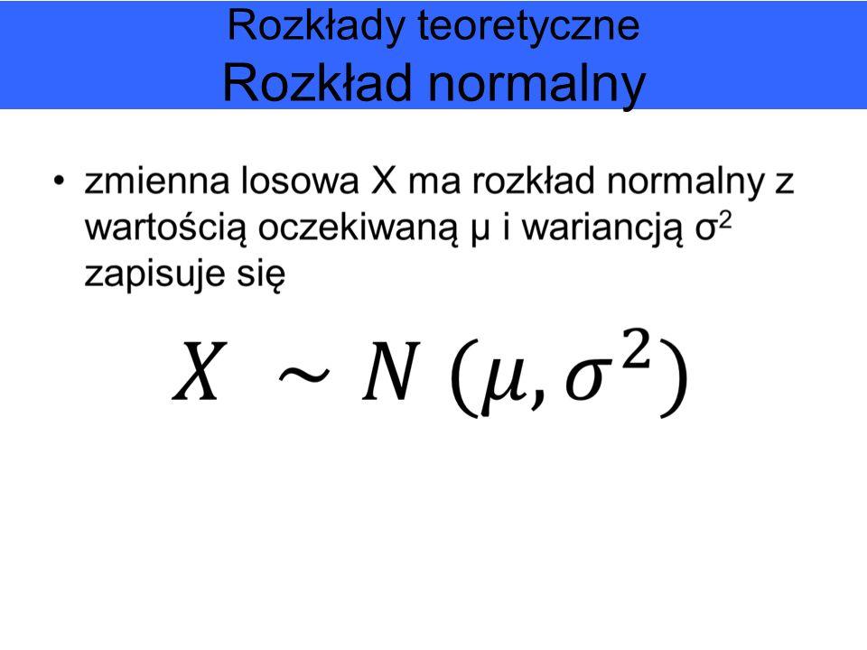 Rozkłady teoretyczne Rozkład normalny