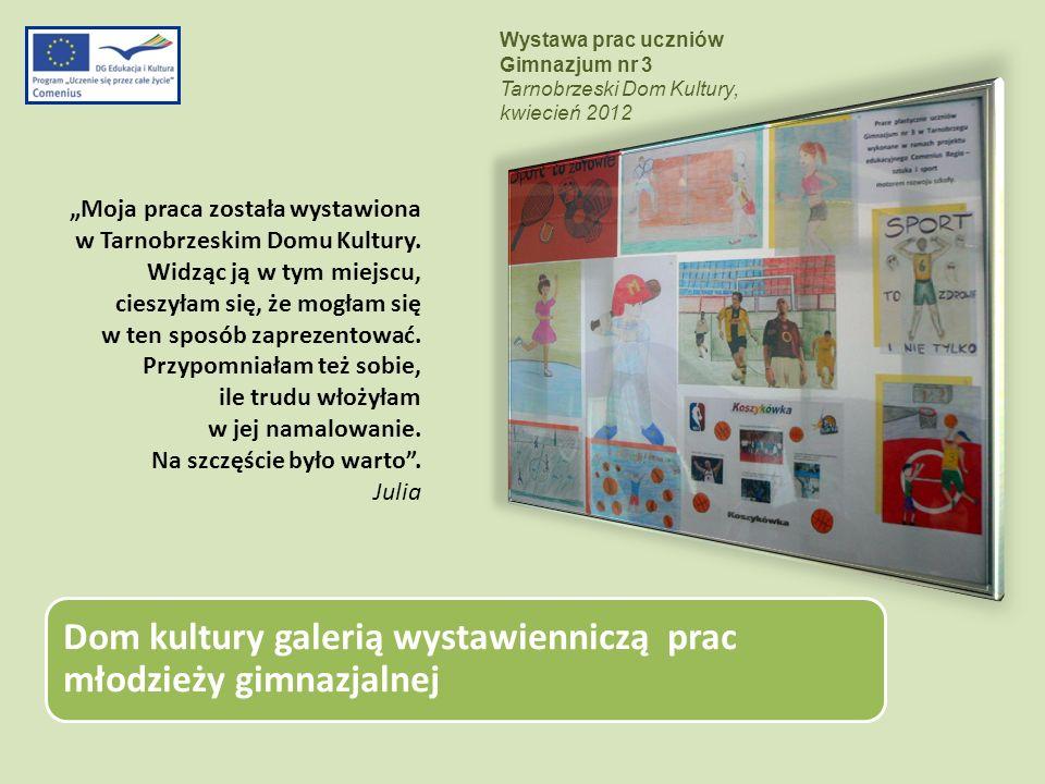 Wystawa prac uczniów Gimnazjum nr 3. Tarnobrzeski Dom Kultury, kwiecień 2012.