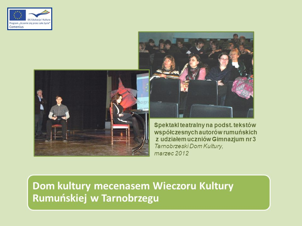 Dom kultury mecenasem Wieczoru Kultury Rumuńskiej w Tarnobrzegu