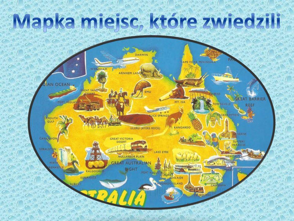 Mapka miejsc, które zwiedzili