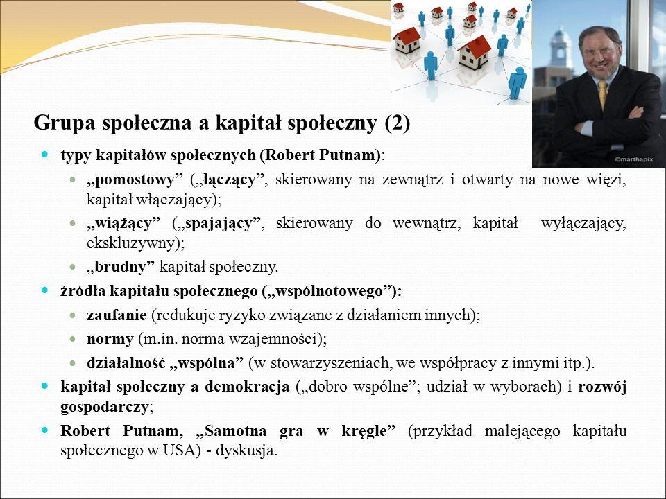 Grupa społeczna a kapitał społeczny (2)