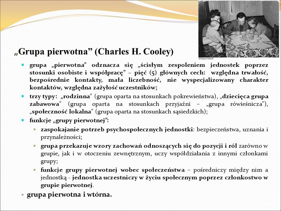 """Grupa pierwotna (Charles H. Cooley)"