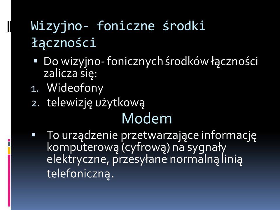 Wizyjno- foniczne środki łączności