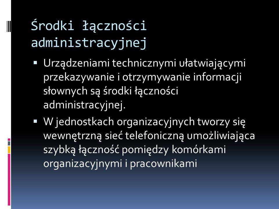 Środki łączności administracyjnej