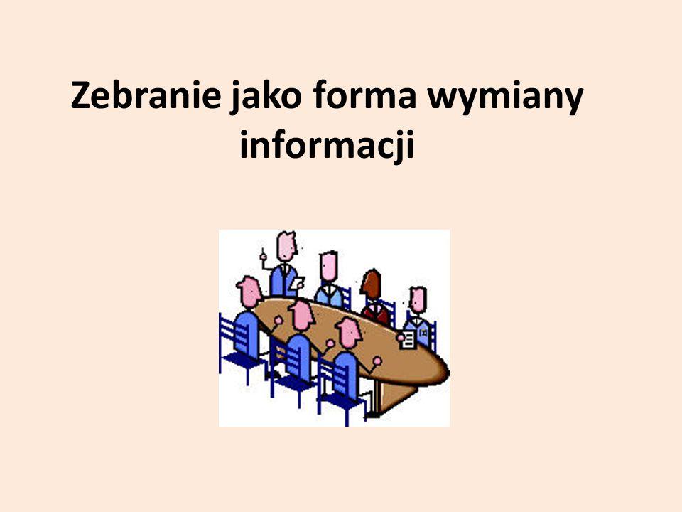 Zebranie jako forma wymiany informacji