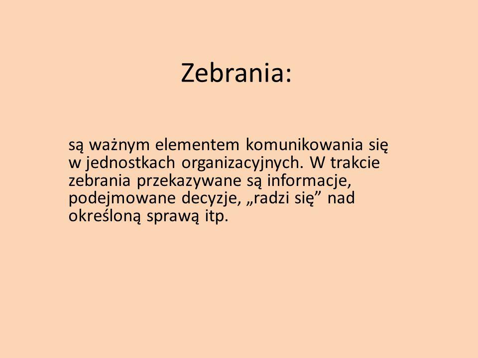 Zebrania:
