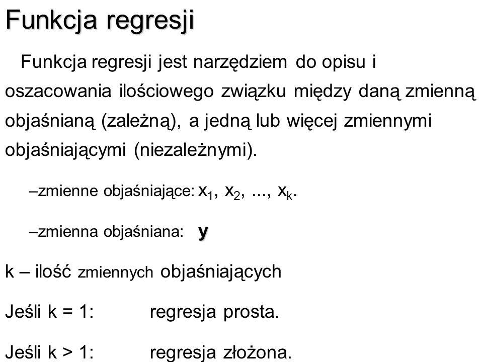 Funkcja regresji