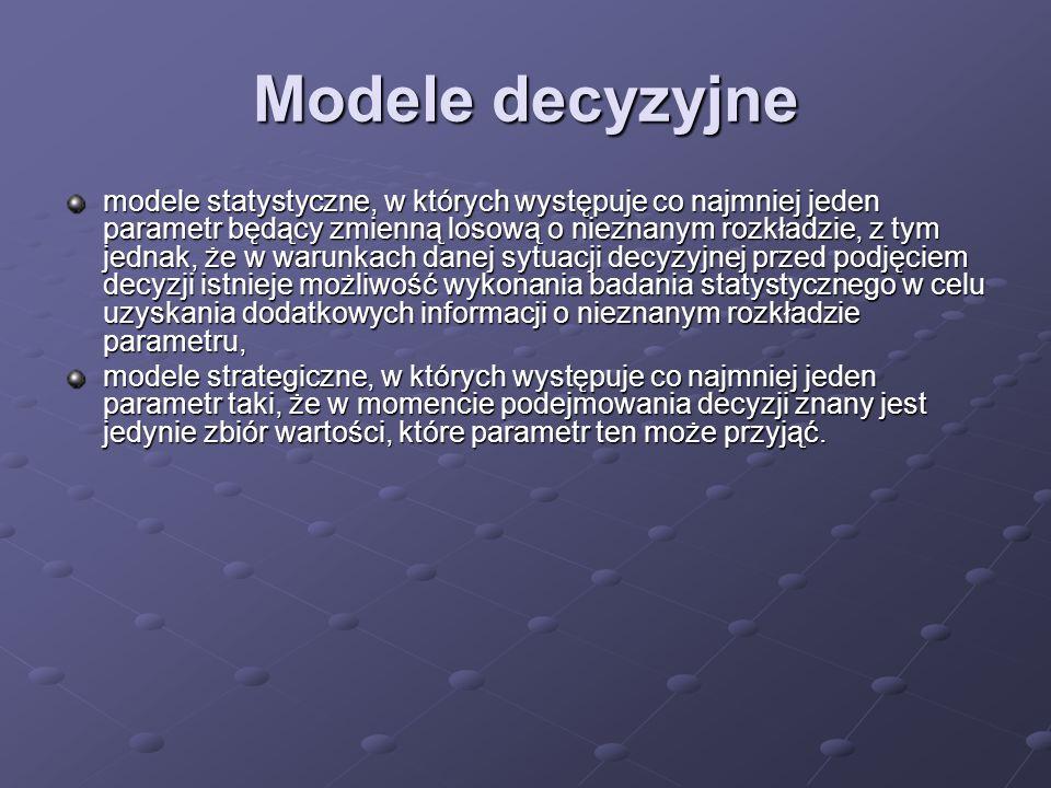 Modele decyzyjne