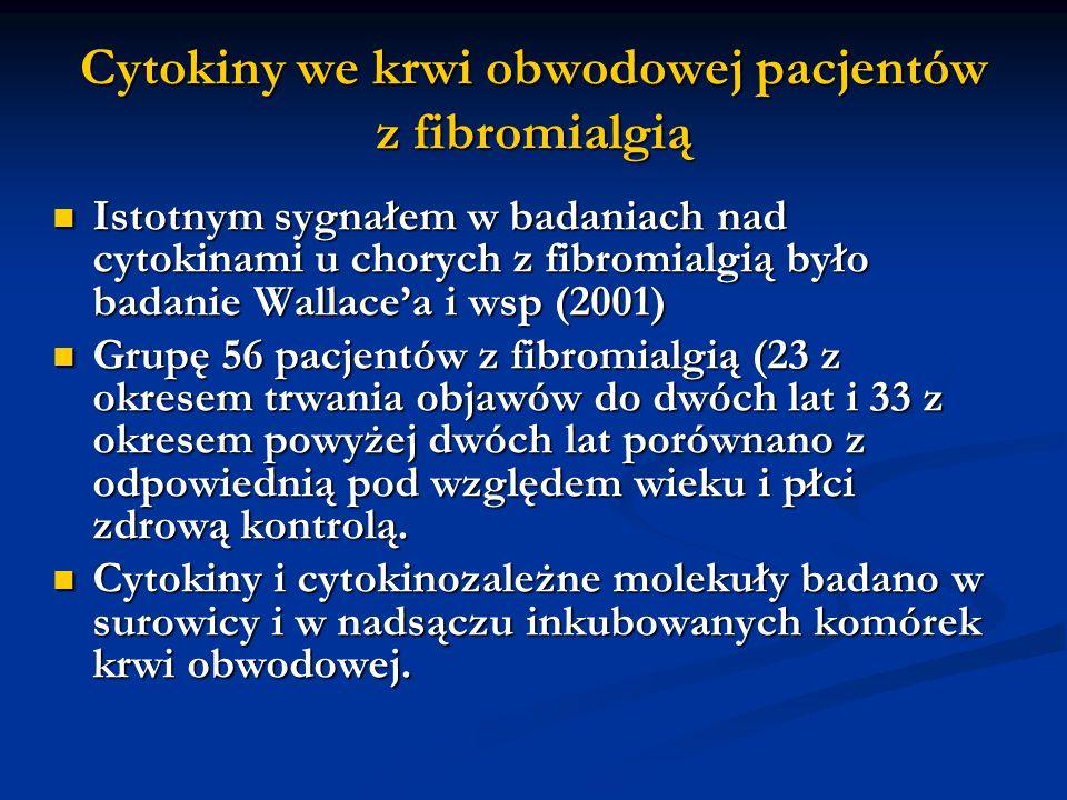Cytokiny we krwi obwodowej pacjentów z fibromialgią