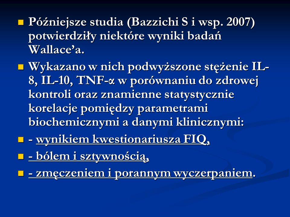 Późniejsze studia (Bazzichi S i wsp