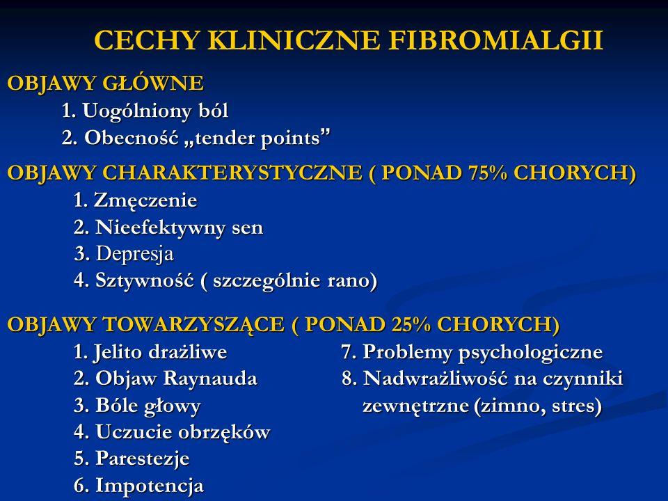 CECHY KLINICZNE FIBROMIALGII