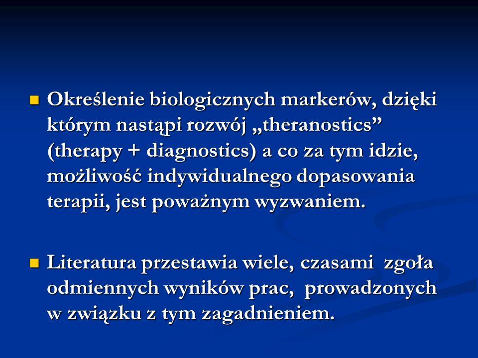 """Określenie biologicznych markerów, dzięki którym nastąpi rozwój """"theranostics (therapy + diagnostics) a co za tym idzie, możliwość indywidualnego dopasowania terapii, jest poważnym wyzwaniem."""