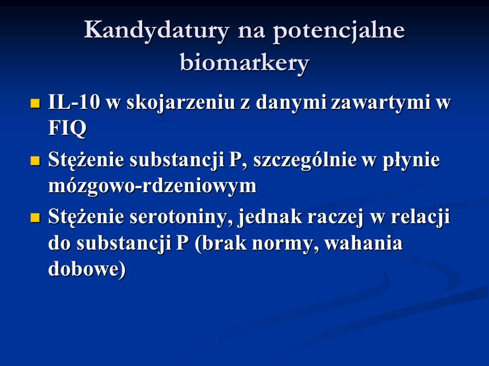 Kandydatury na potencjalne biomarkery