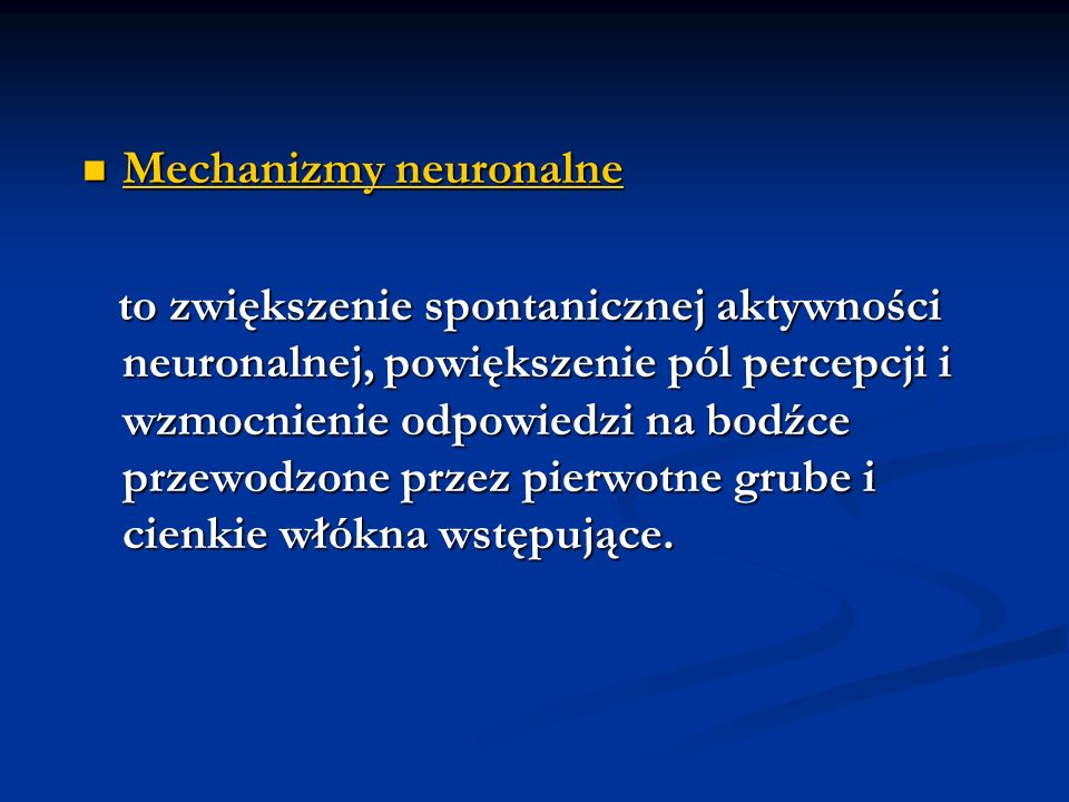 Mechanizmy neuronalne