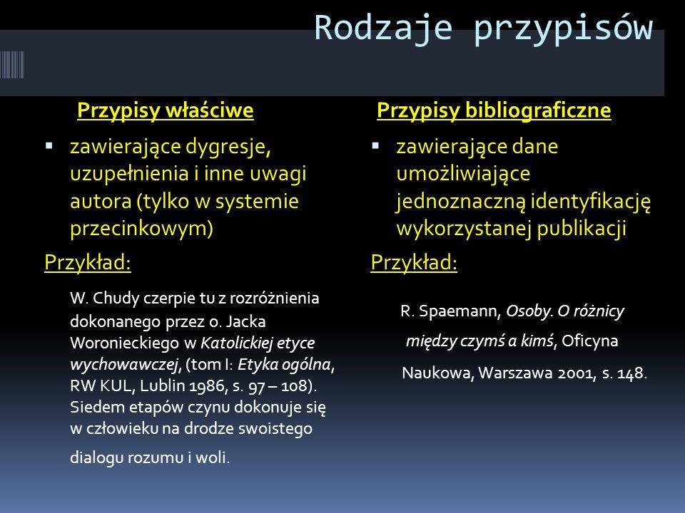 Rodzaje przypisów R. Spaemann, Osoby. O różnicy