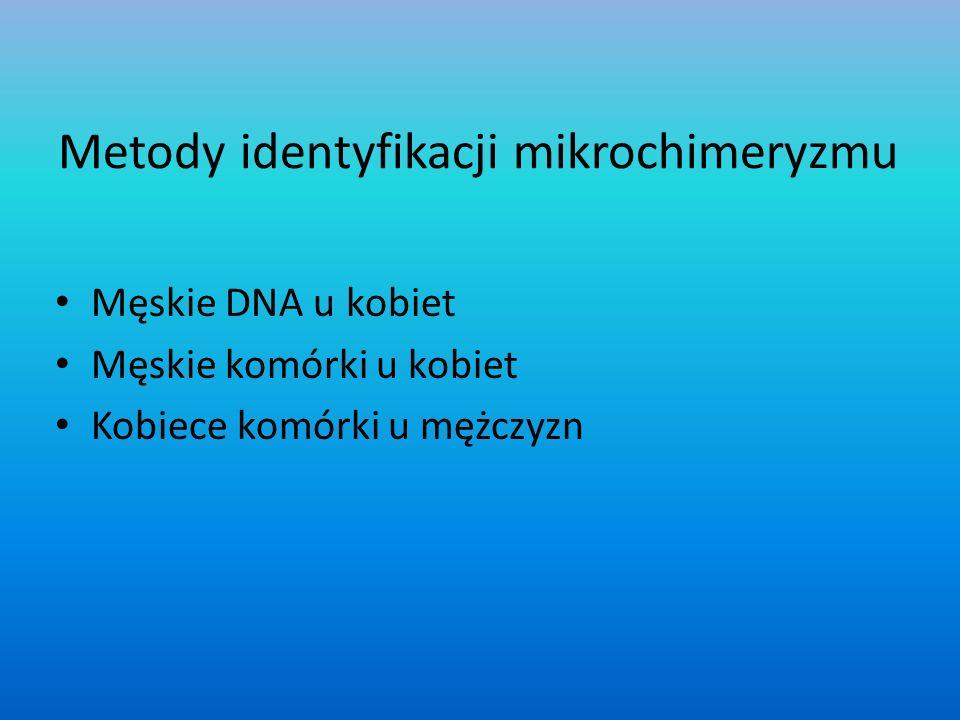 Metody identyfikacji mikrochimeryzmu