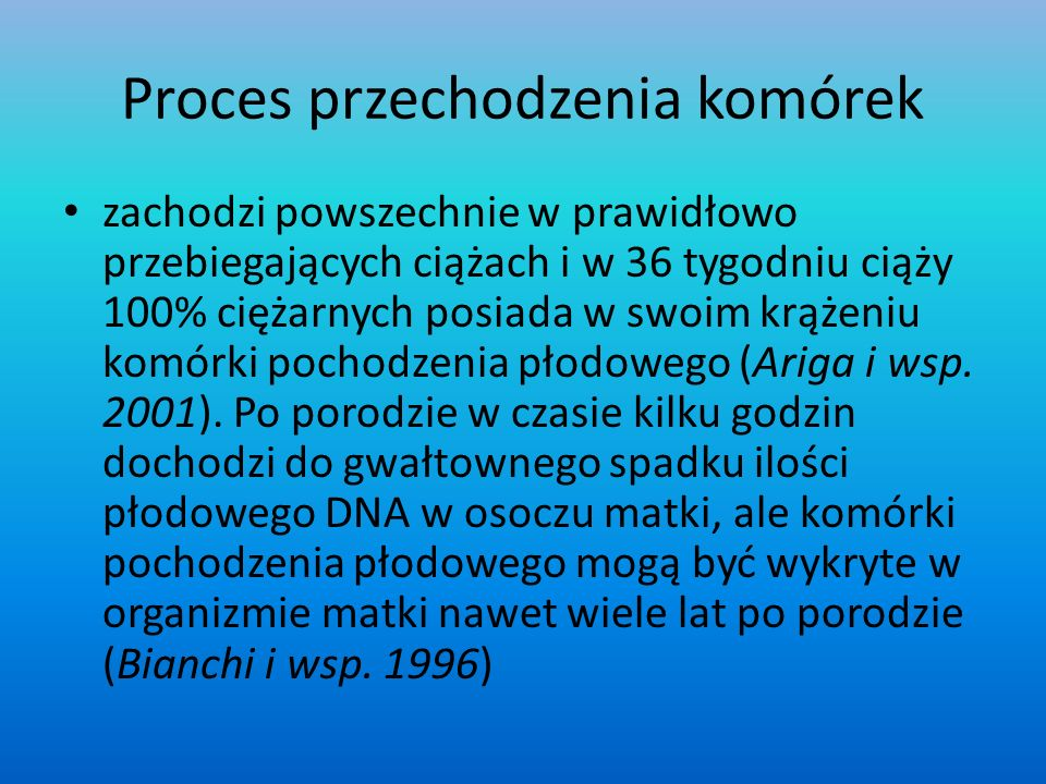 Proces przechodzenia komórek