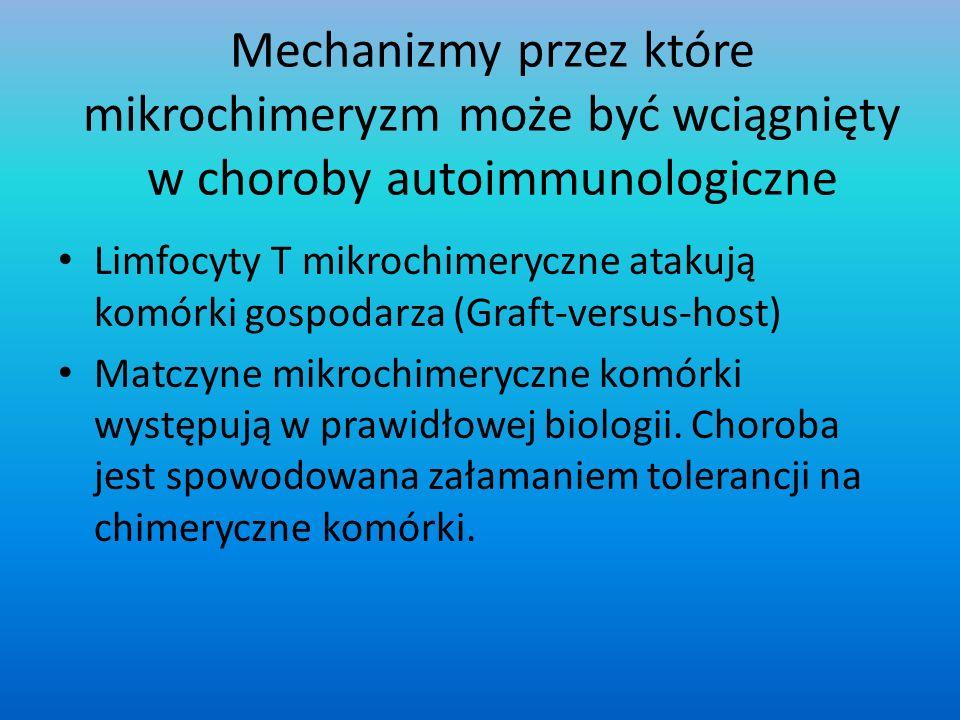 Mechanizmy przez które mikrochimeryzm może być wciągnięty w choroby autoimmunologiczne