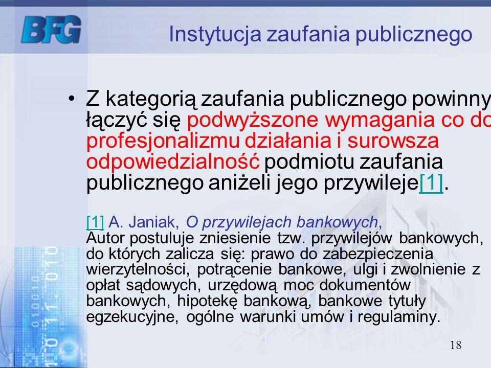 Instytucja zaufania publicznego