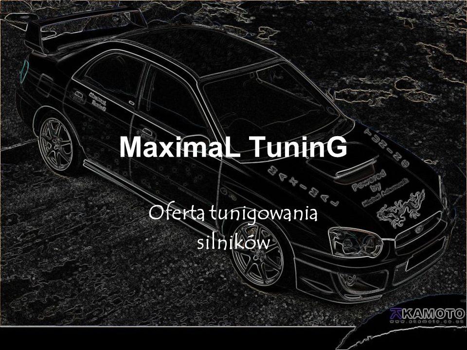Oferta tunigowania silników