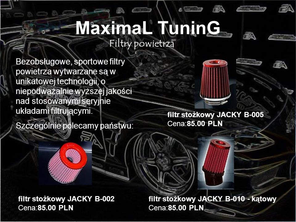 MaximaL TuninG Filtry powietrza