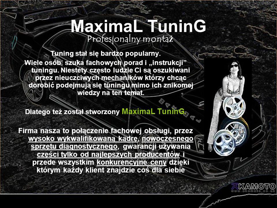 MaximaL TuninG Profesjonalny montaż