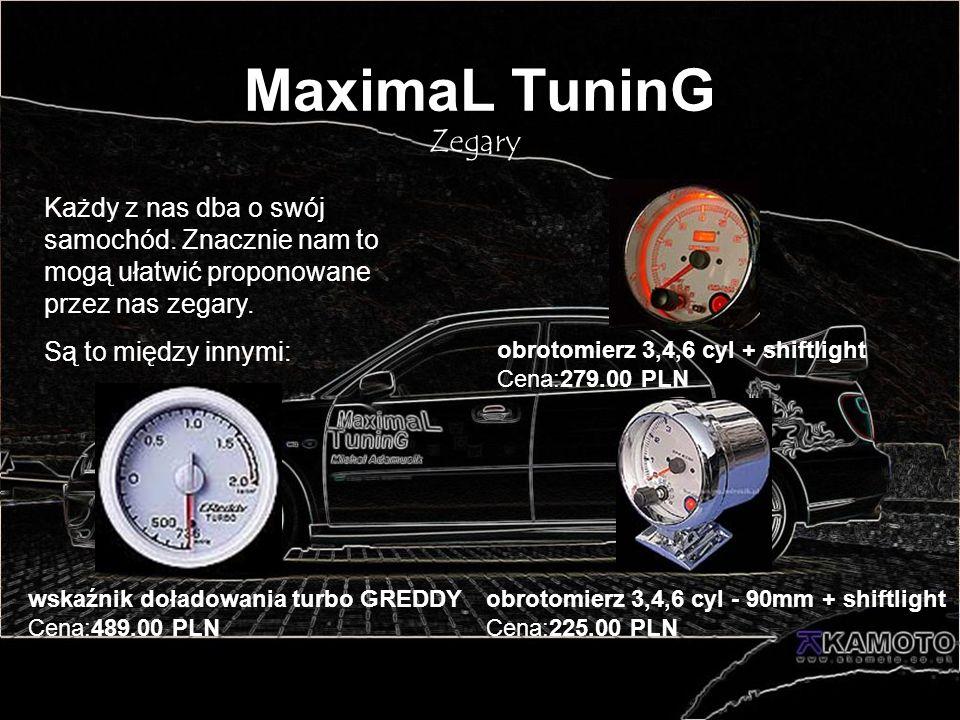 MaximaL TuninG Zegary. Każdy z nas dba o swój samochód. Znacznie nam to mogą ułatwić proponowane przez nas zegary.