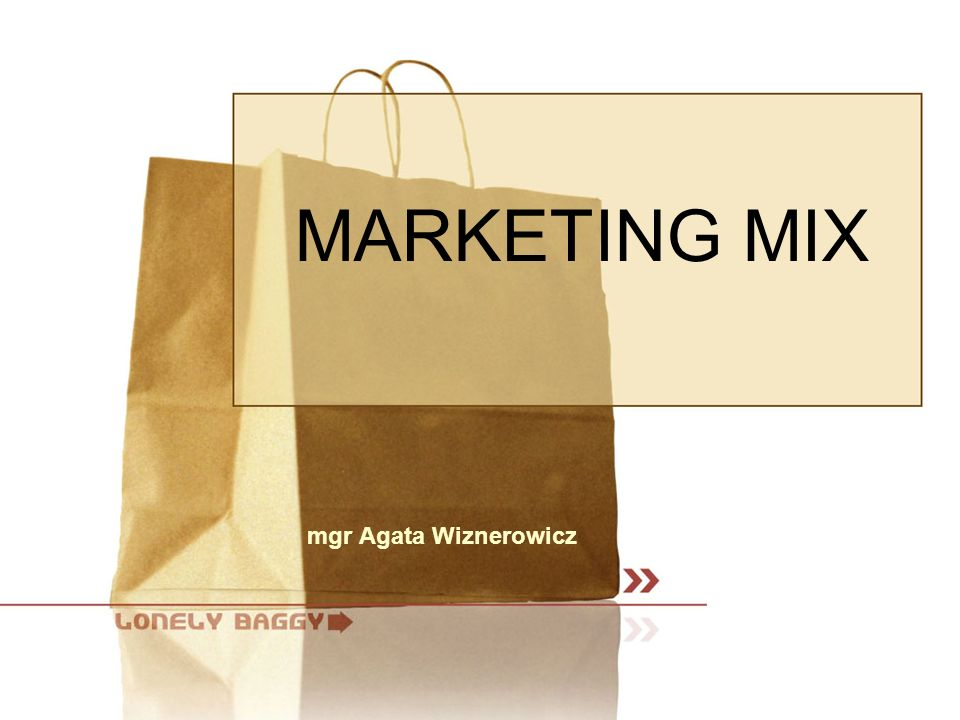 MARKETING MIX mgr Agata Wiznerowicz