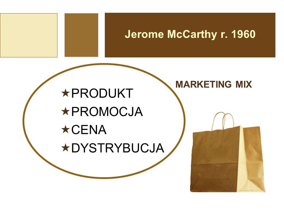 PRODUKT PROMOCJA CENA DYSTRYBUCJA Jerome McCarthy r. 1960