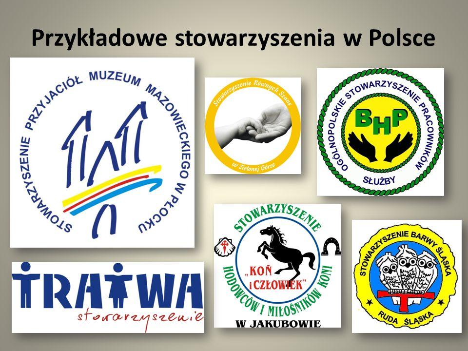 Przykładowe stowarzyszenia w Polsce