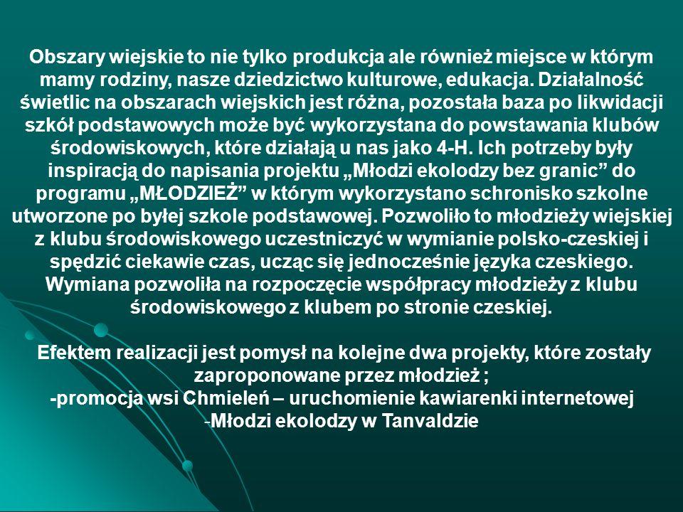 -promocja wsi Chmieleń – uruchomienie kawiarenki internetowej